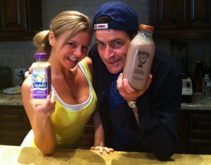 charlie sheen twitter milk photo - Can't Make Money On Twitter? Think Charlie Sheen!