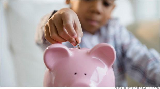 children saving money = Banks Accounts