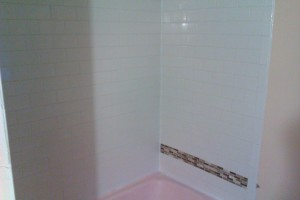 New Bathroom wall