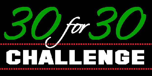30 for 30 logo